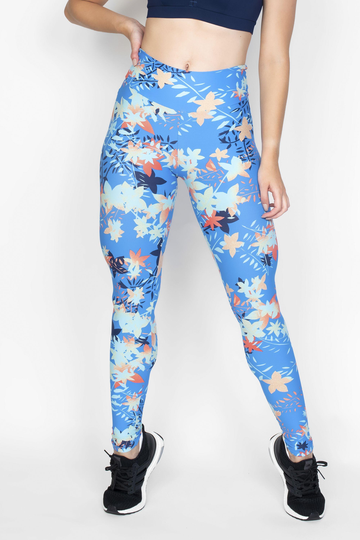 d08cd087e Calça Legging Azul Claro Com Estampa Floral C010 - Hipy
