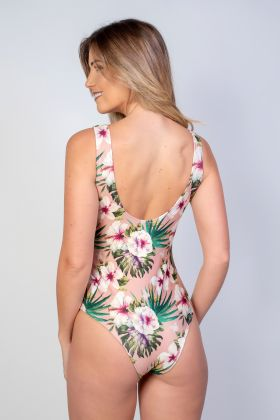 Body Maiô Sublimado Rosa Com Estampa Floral E029