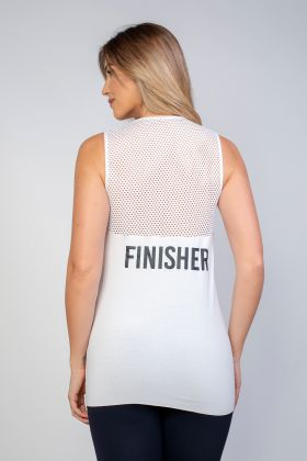 Camiseta Com Tela Finisher Branca